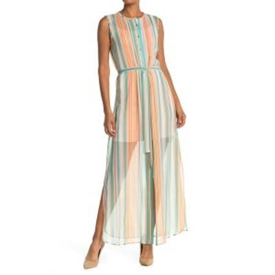 テッドベーカー レディース ワンピース トップス Candy Stripe Waist Tie Dress ORANGE