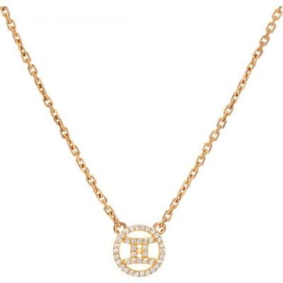ミニミニジュエルズ MINI MINI JEWELS レディース ネックレス ジュエリー・アクセサリー Halo Zodiac Sign Diamond Pendant Necklace Yellow Gold Gemini