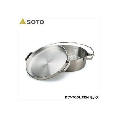 SOTO ステンレスダッチオーブン10HALF 直径259×深さ78mm(内寸)、幅365×奥行330×高さ105mm(外形) ST-910HF
