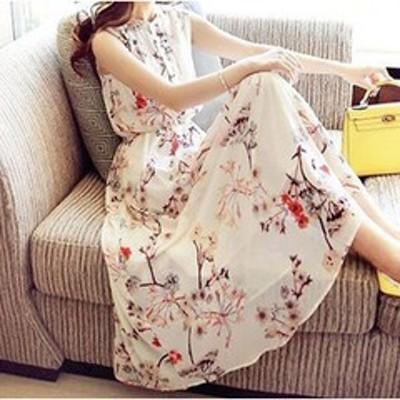 結婚式ドレス パーティードレス ゆったり&きちんと 着心地の良いシフォン 上品花柄ミモレ丈ワンピースドレス a0224