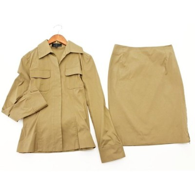 アンタイトル セットアップ ジャケット スカート スーツ size2/ベージュ ◇■ ☆ aja7
