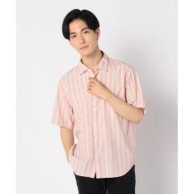 FREDY&GLOSTER(フレディアンドグロスター)ストライプ ポプリン ショートスリーブシャツ【お取り寄せ商品】