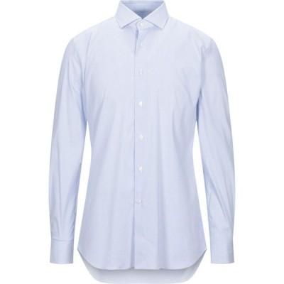 ザカス XACUS メンズ シャツ トップス Striped Shirt Sky blue