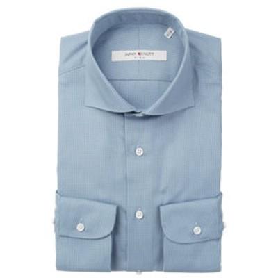 ▽【JAPAN QUALITY】ワイドカラードレスシャツ チェック