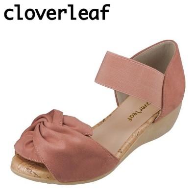 クローバーリーフ cloverleaf CL-1245 レディース   サンダル   ウェッジソール   フワフワ インソール   屈曲性   ピンク