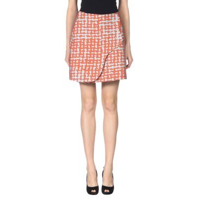 エンポリオ アルマーニ EMPORIO ARMANI ひざ丈スカート 赤茶色 40 コットン 55% / ポリエステル 40% / ナイロン 5%