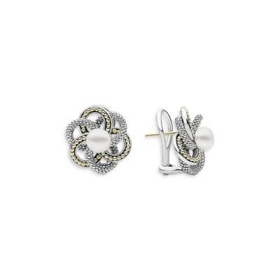 ラゴス レディース ピアス・イヤリング アクセサリー Sterling Silver & 18K Yellow Gold Luna Love Knot Cultured Freshwater Pearl Stud Earrings