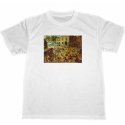 ピーテル・ブリューゲル ドライ Tシャツ 子供の遊戯 名画 絵画 グッズ