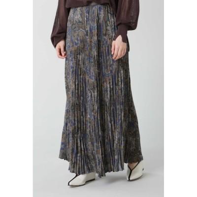 【ローズバッド/ROSEBUD】 【CREOLME】ペイズリープリーツロングスカート