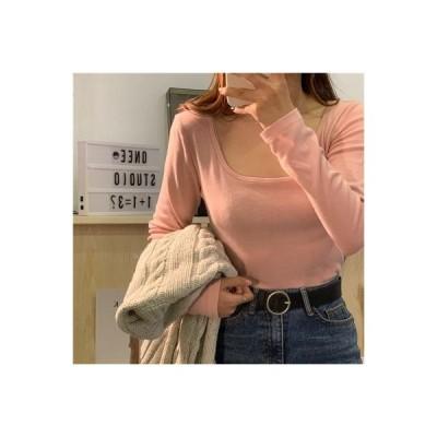 【送料無料】~ 秋冬 年 韓国風 厚さプラス 着やせ 着やせ 長袖Tシャツ 女 | 346770_A64419-3462187
