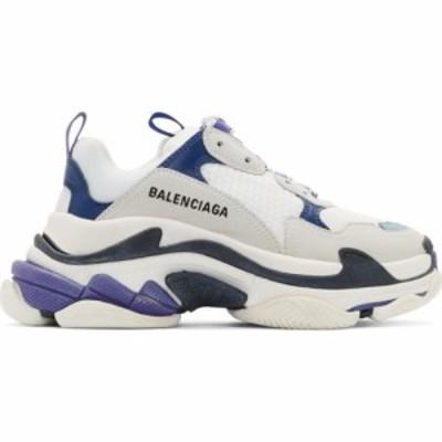 バレンシアガ Balenciaga レディース スニーカー シューズ・靴 White Triple S Sneakers White/Black/Blue
