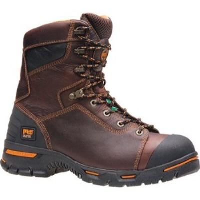 ティンバーランド Timberland PRO メンズ ブーツ シューズ・靴 Endurance PR 8 Steel Toe Brown Full Grain Leather