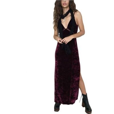 フリーピープル Free People レディース ワンピース ワンピース・ドレス Low Key Crushin' Velvet Dress Pomegranate Wine