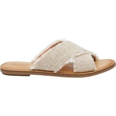 トムス TOMS レディース サンダル・ミュール スライドサンダル シューズ・靴 Viv Slide Sandal Natural Metallic Jute