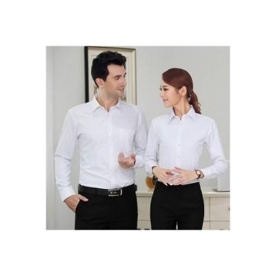 シャツ レディース ブラウス ワイシャツ Yシャツ 制服 ビジネス フォーマル トップス レギュラーシャツ クールビズ リクルート 長袖ブラウス 白