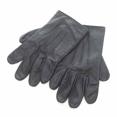 クロエ/CHLOE レザーグローブ 手袋 41K20 サイズ ユニセックス24cm ブラック ランクB 102  (中古)