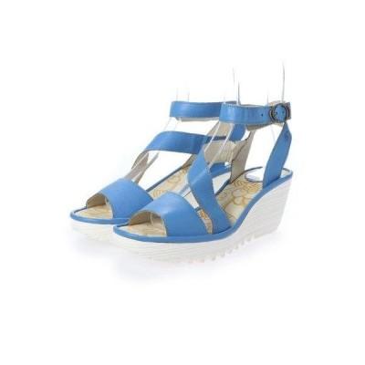 ヨーロッパコンフォートシューズ EU Comfort Shoes FLYLONDON サンダルパンプス(500.526) (ブルー/ホワイト)