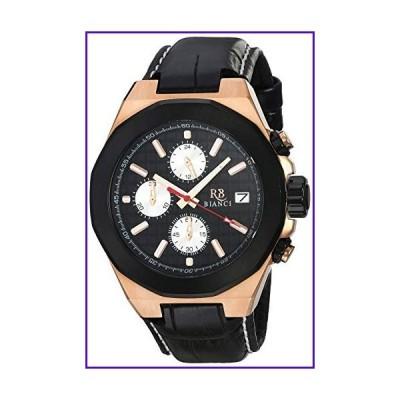 ROBERTO BIANCI WATCHES Men's Fratelli Stainless Steel Quartz Leather Calfskin Strap, Black, 22 Casual Watch (Model: RB0133) 並行輸入