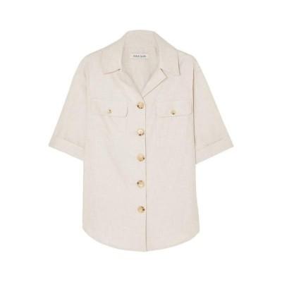 ANNA QUAN 無地シャツ&ブラウス ファッション  レディースファッション  トップス  シャツ、ブラウス  長袖 ベージュ