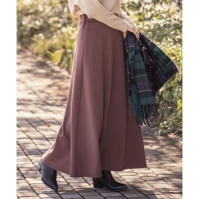 スカート あったか裏起毛スウェットマキシスカート