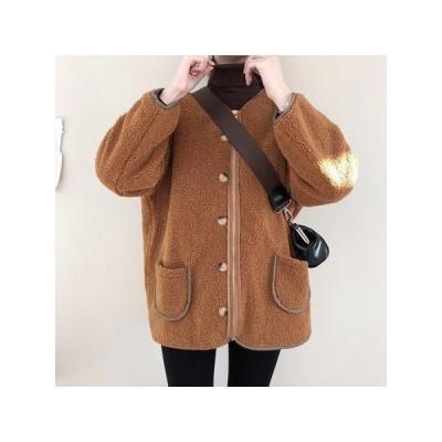 ジャケット  キルティング加工 もこもこ ノーカラージャケット フワモコ 暖か ノーカラー  大きめシルエット