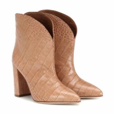 パリ テキサス Paris Texas レディース ブーツ ショートブーツ シューズ・靴 Embossed leather ankle boots Beige