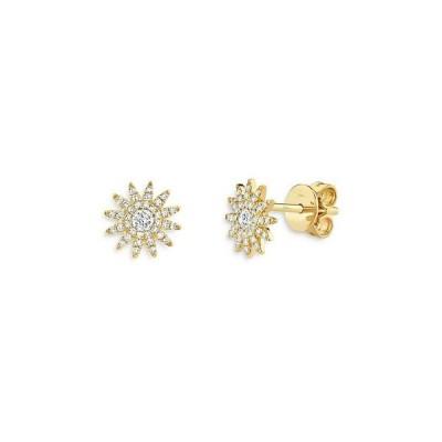 ムーン & メドウ レディース ピアス・イヤリング アクセサリー 14K Yellow Gold Diamond Starburst Stud Earrings - 100% Exclusive