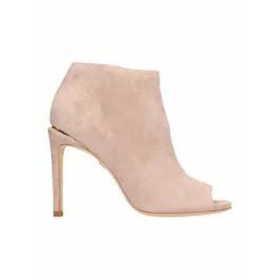 Lola Cruz レディースシューズ Lola Cruz Open Toe Pink Suede Ankle Boots Basic