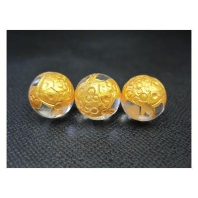 粒売り 三脚蟾蜍  サンキャクセンジョ  水晶Φ12±0.2mmゴールド