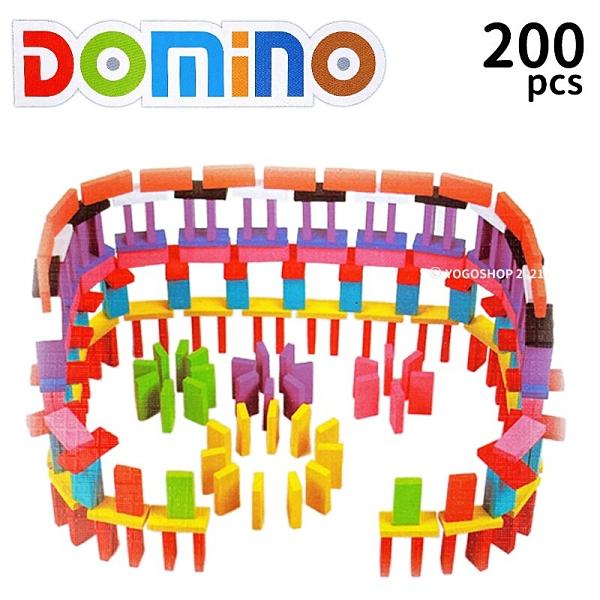 10色 多米諾骨牌 木頭 200片入 SHL-8803/一盒入(促350) 彩色多米諾骨牌 桌遊 -鑫