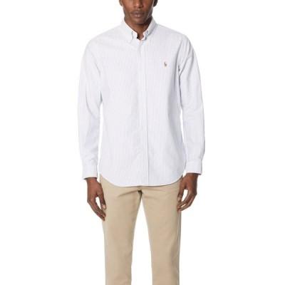ラルフ ローレン Polo Ralph Lauren メンズ シャツ トップス Standard Fit Oxford Sport Shirt Blue/White