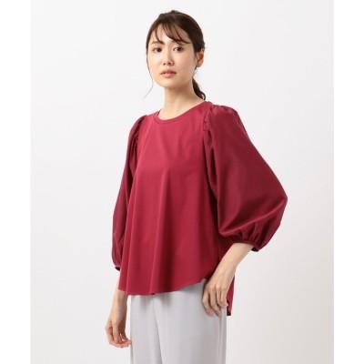 自由区 【Class Lounge】TECHNO RAMA ボリューム スリーブ Tシャツ (レッド系)