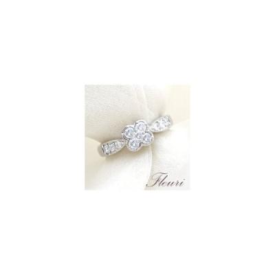 K18YG/PG/WG 0.5ctフラワーダイヤモンドリング『Fleuri』0.5カラット[無色透明F〜Dカラー/SIクラスGOOD〜VERYGOOD]