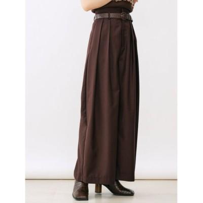 MURUA / バックスリットワイドパンツ WOMEN パンツ > スラックス