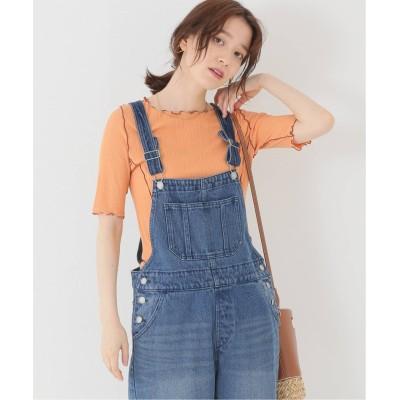 レディース ベーセーストック シアーリブパイピングTシャツ オレンジ フリー