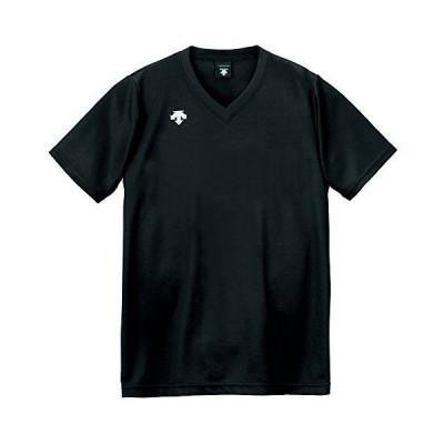 [デサント] バレーボール 男女兼用 V首半袖ゲームシャツ DSS-4321 ブラック S