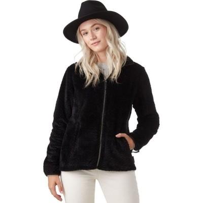 ストイック Stoic レディース フリース トップス cozy sherpa fleece jacket Black