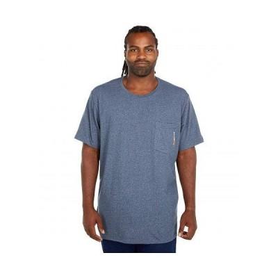 Timberland PRO ティンバーランド メンズ 男性用 ファッション Tシャツ Extended Base Plate Blended Short Sleeve T-Shirt - Navy Heather