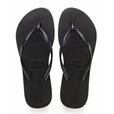 ハワイアナス レディース サンダル シューズ Slim Metallic Flip-Flops Black