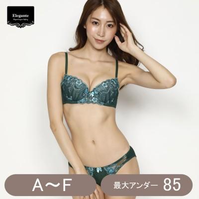 小花レースブラジャー&ショーツセット(エレガンテ/Elegante)