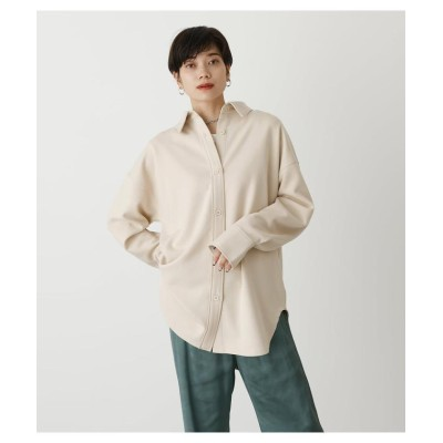 (AZUL by moussy/アズールバイマウジー)SOFT TOUCH RELAX SHIRT/レディース IVOY3