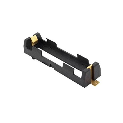 1042 BLACK single 18650 battery holder sled clip - Gold plated【並行輸入品】