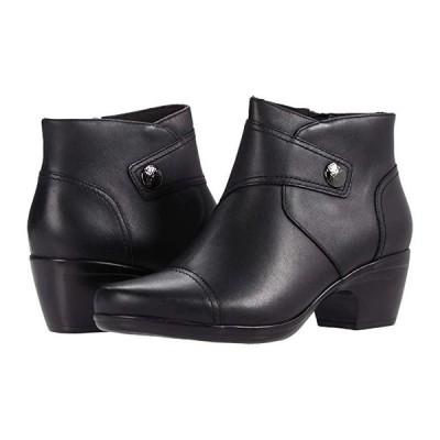 クラークス Emily Calle レディース ブーツ Black Leather