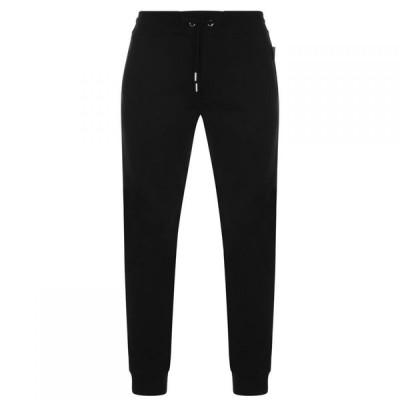 ヴェルサーチ Versace Jeans Couture メンズ スウェット・ジャージ ボトムス・パンツ Blue Logo Jogging Bottoms Black