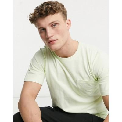 ネイティブユース Native Youth メンズ Tシャツ ポケット トップス oversized t-shirt with front pocket in green グリーン