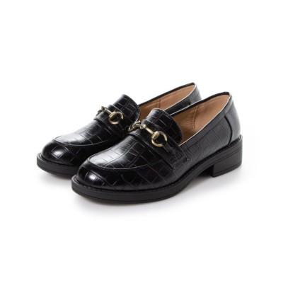 (SFW/サンエーフットウェア)AAA+ feminine AAA+ feminine おじ靴'マニッシュビットローファー/3572/レディース ブラッククロコ
