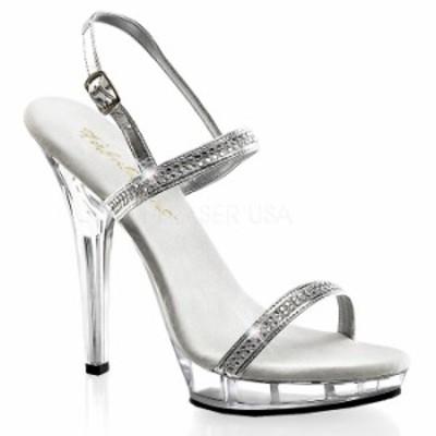 取寄 靴 送料無料 きらきらラインストーン付きストラップ ベルト付き 薄厚底サンダル 12.5cmピンヒール 銀シルバーメタリックつや消し ク