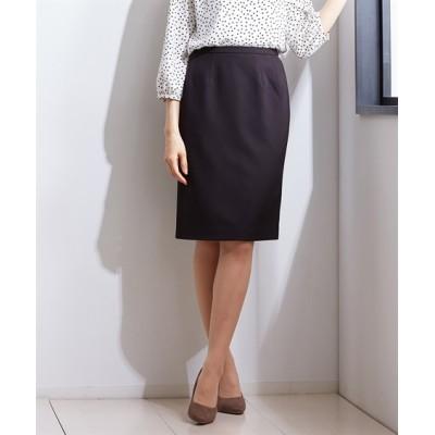【ダブルクロスシリーズ】タテヨコストレッチタイトスカート(上下別売スーツ) (ひざ丈スカート)Skirts