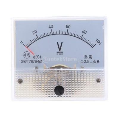 高品質 85C1 DC アナログパネル 電圧計 全14種 アナログ電流計 交換性 - 0-100 V