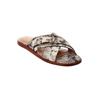 レディース シューズ  Joie Panther Snake-Embossed Leather Sandal
